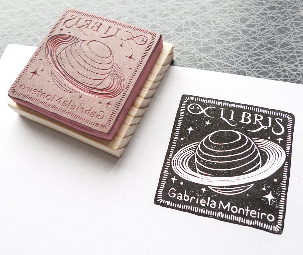 Custom Ex Libris stamp.