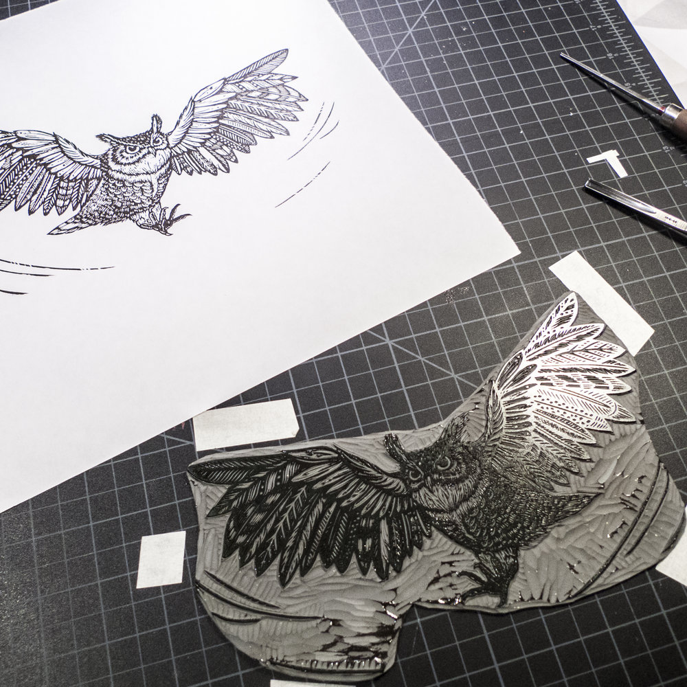 horned-owl-linocut-printing-tian-gan.jpg