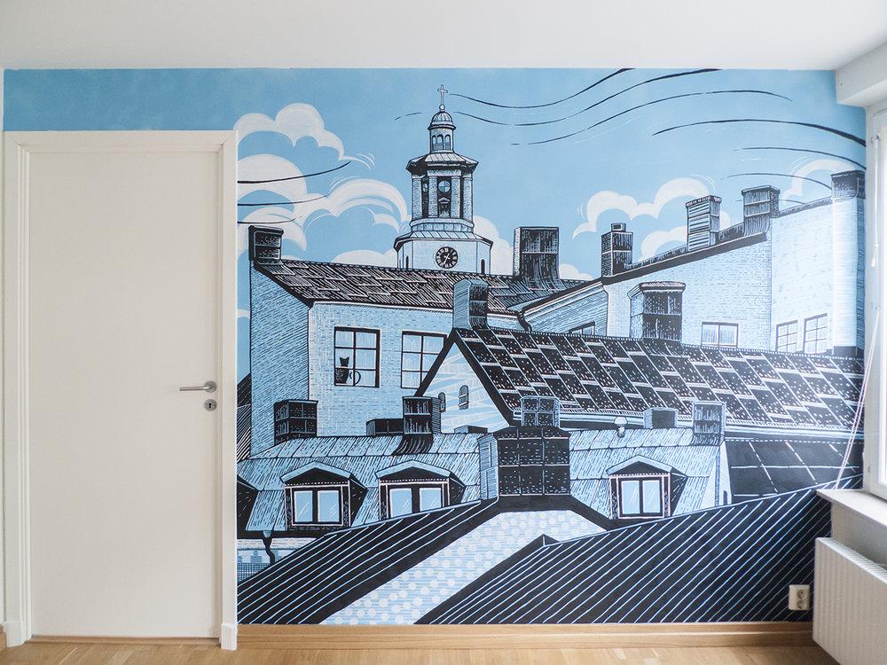 st maria magdalena wall mural
