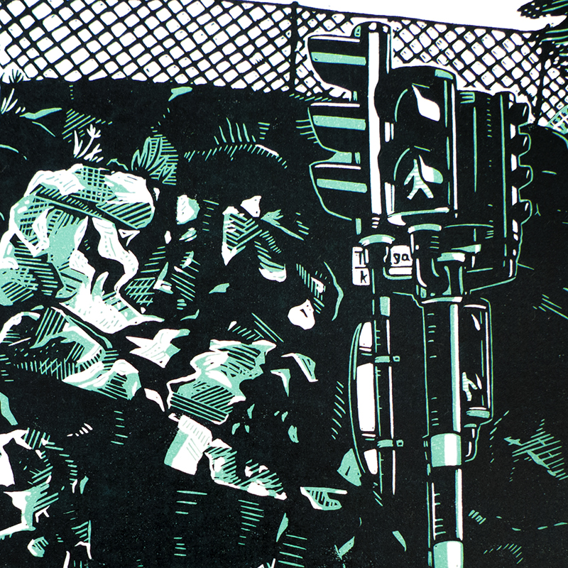 Torsvik and Tegnérgatan, Two Linocuts