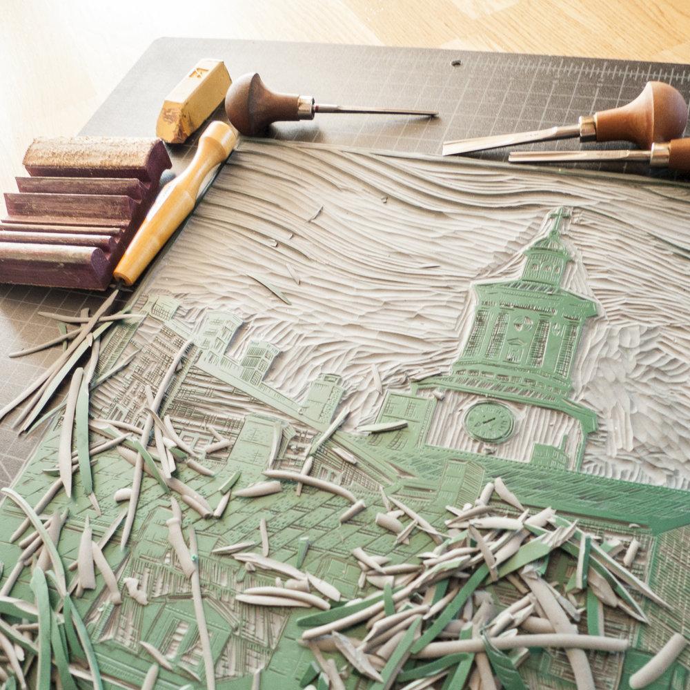 Carving  S:ta Maria Magdalena kyrka .