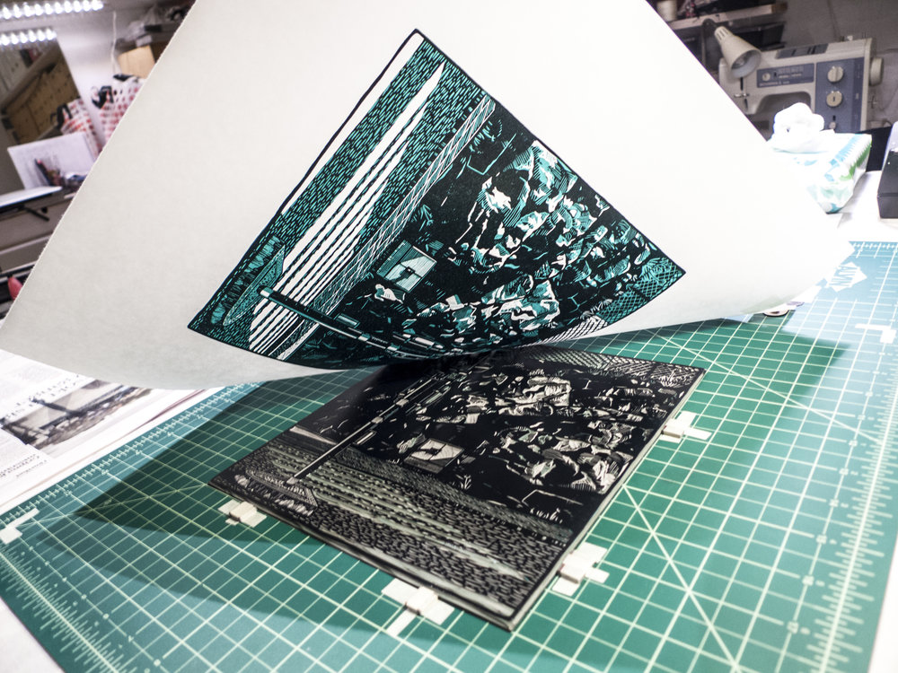 Printing second layer of  Tegnérgatan .