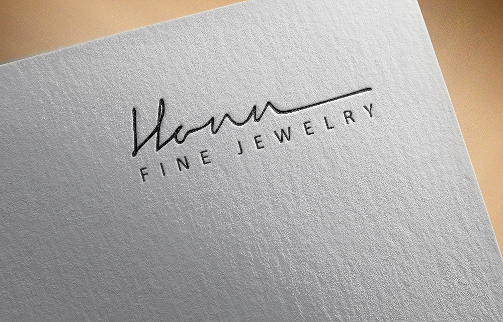 Typography logo design for Honn Fine Jewelry.