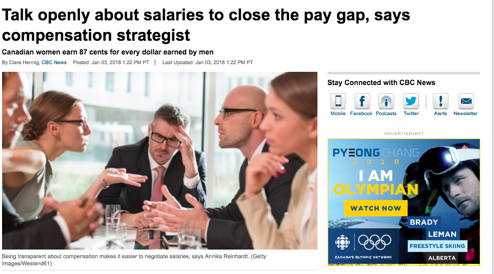 CBC: Early Edition - Annika shares her thoughts on why pay transparency is important for employers and employees.Read more...