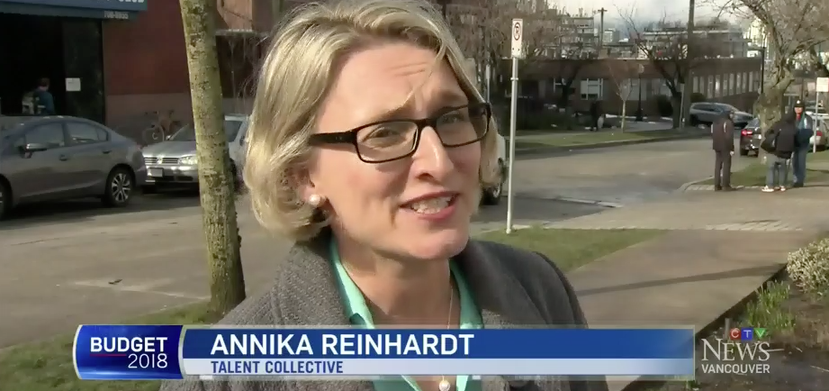 CTV Vancouver - Annika chimes in on the federal budget and pay equity,See the full clip....