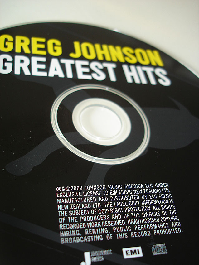 GREG JOHNSON - GREATEST HITS - ALBUM