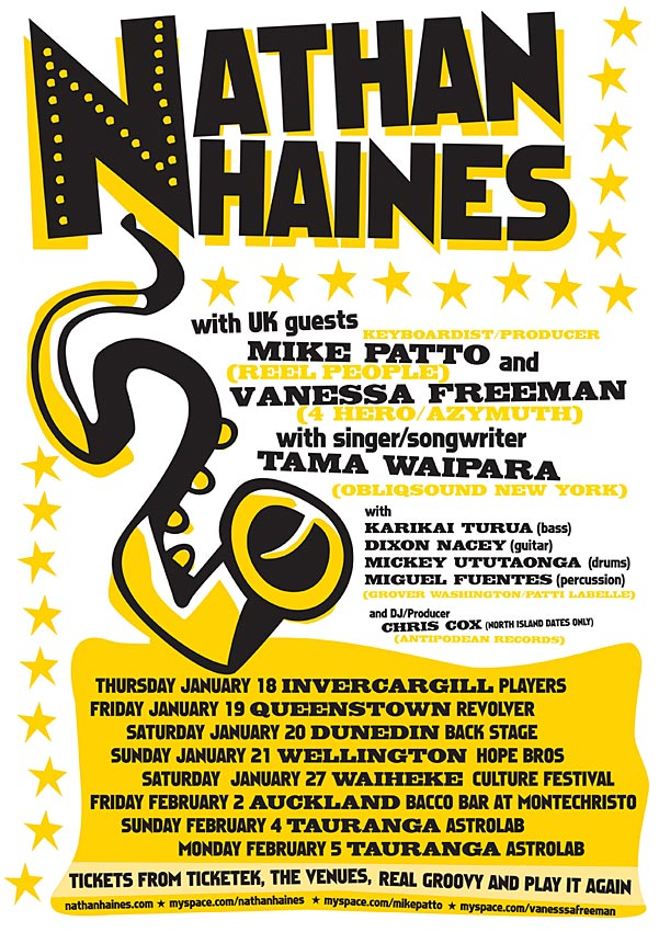 NATHAN HAINES - TOUR POSTER