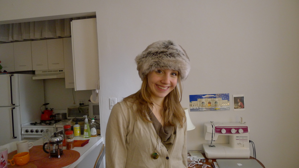 In my tiny but perfect apartment on the Upper West Side, 2011.