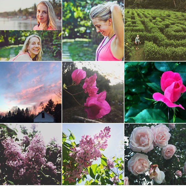 I like to think of myself as a stereotype-breaking independent-woman-tomboy, but based on my photos, apparently I like flowers and the color pink. Oh well--I'll take it. 💐