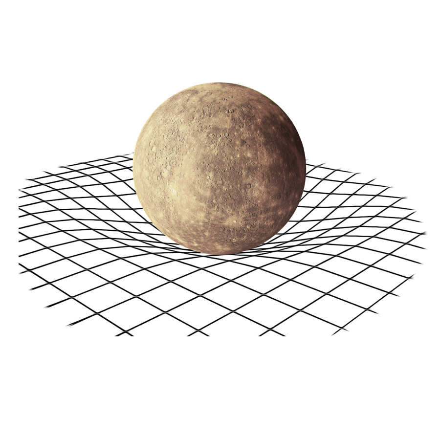 Gravity - Because of it's low mass, Mercury has a gravitational pull of only 3.7 meters / seconds squared. This is less than half of Earth's gravitational pull.