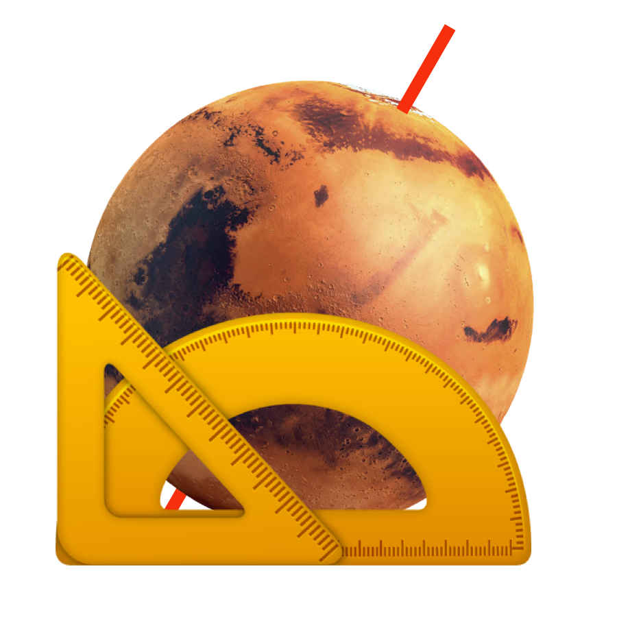 Tilt - Mars has a tilt of 25.2 degrees. This means it has seasons very similar to Earth.