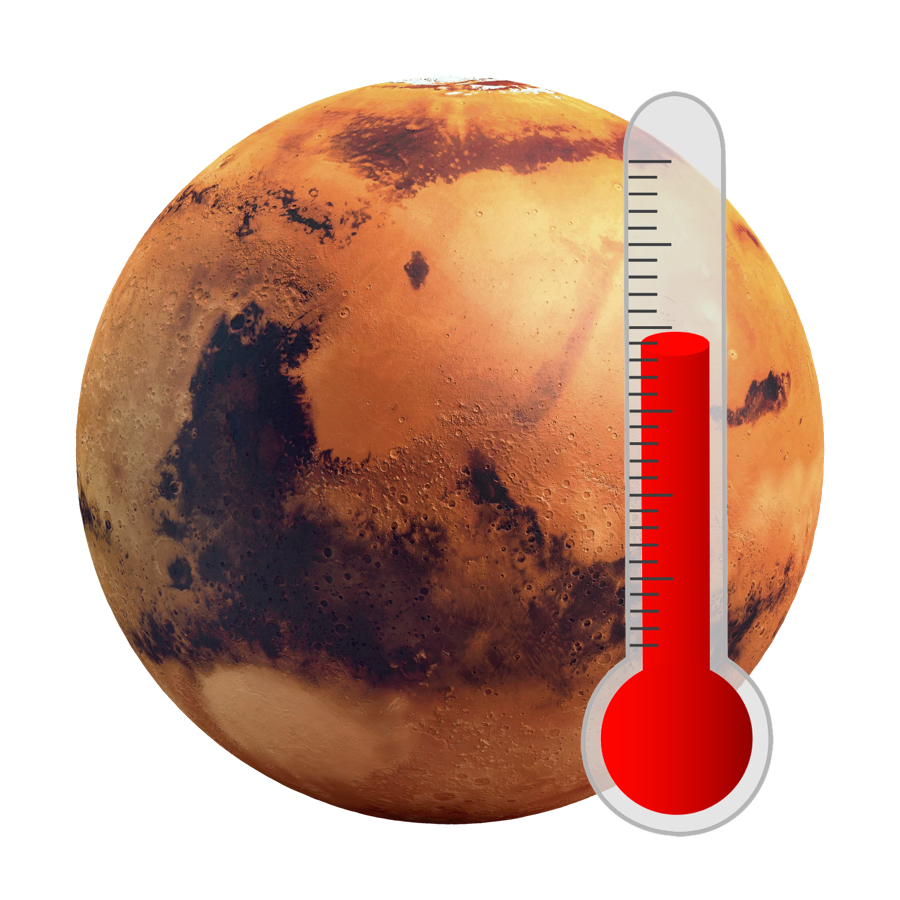 Temperature - Mars has an average surface temperature of -63 degrees Celsius. This means it's probably just a little too cold for life.