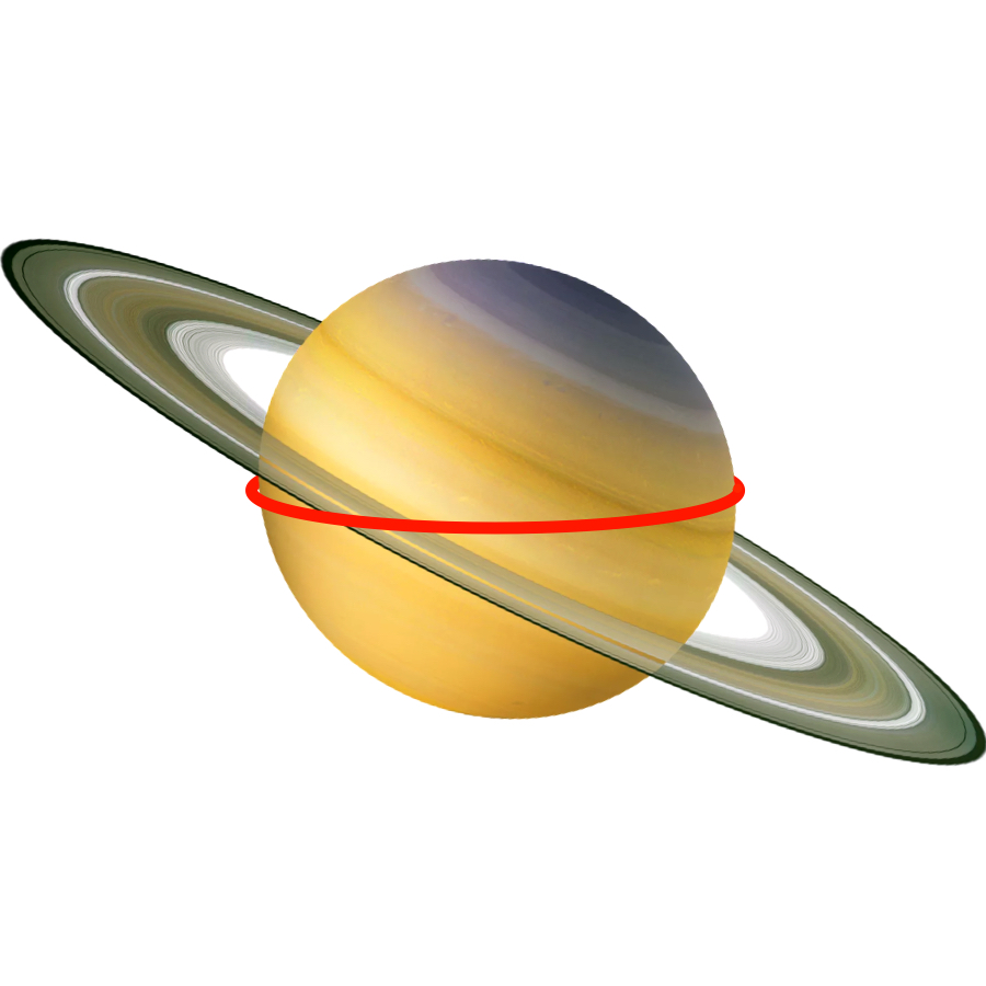 Circumference - Not counting its famous big rings, Saturn has a circumference of 365,882 kilometers.