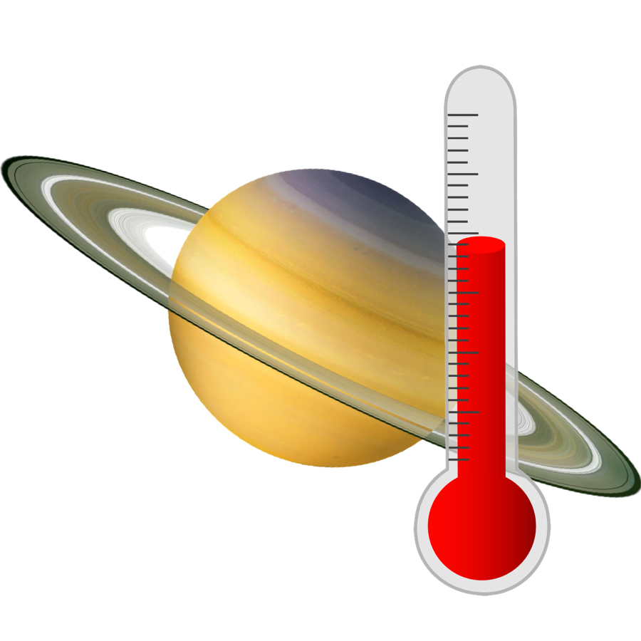 Temperature - Like the other gas giants, Saturn is far from the Sun and is, therefore, cold. The average temperature is -178 degrees Celsius.