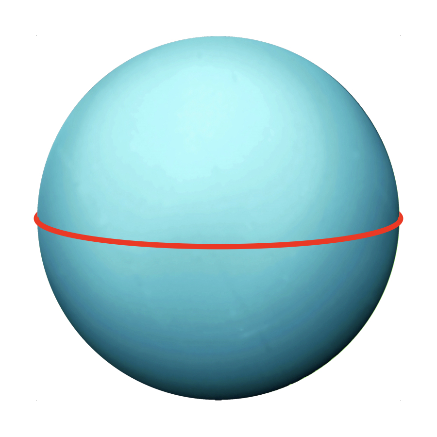 Circumference - Even though it's not as big as Jupiter or Saturn, Uranus is still giant with a circumference of 159,354 kilometers.