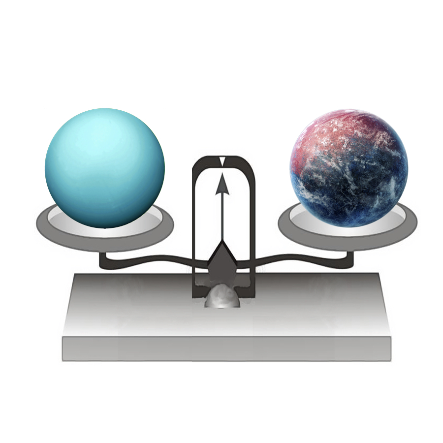 Mass - If we put Uranus on a balance, it would have a mass of 86,810,300,000,000,000,000,000,000 kilograms.