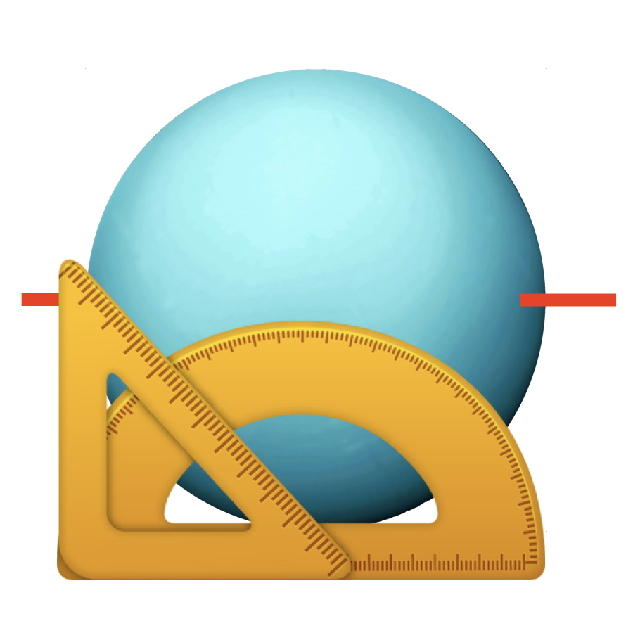 Tilt - Uranus is unique in that it's tipped over on its side 97.8 degrees. From our perspective, it's sideways.