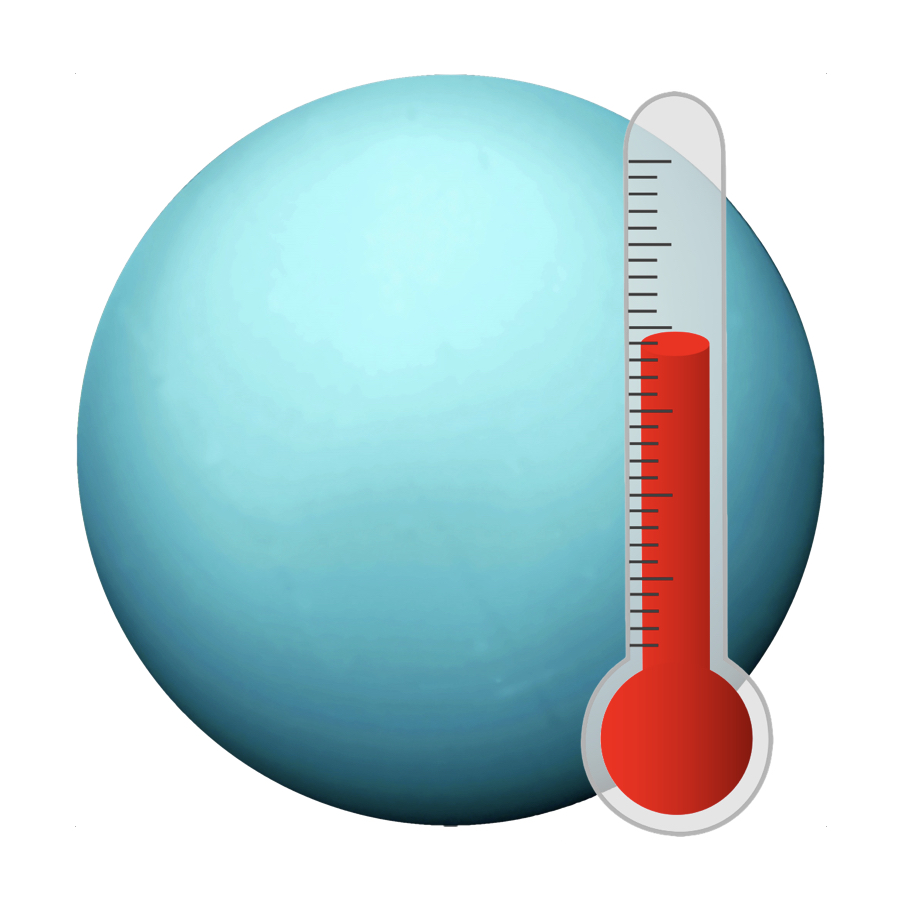 Temperature - Over a billion miles from the Sun, Uranus is cold, averaging a temperature of -216 degrees Celsius.