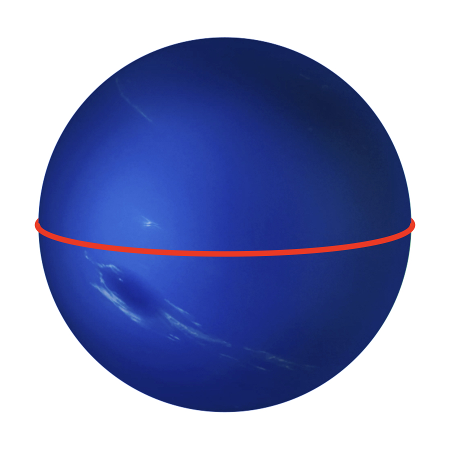 Circumference - Neptune has an equatorial circumference of 154,715 kilometers. That's almost four times more than Earth's.