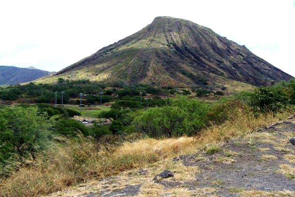Koko Crater, from the edge where acres of land was carved out