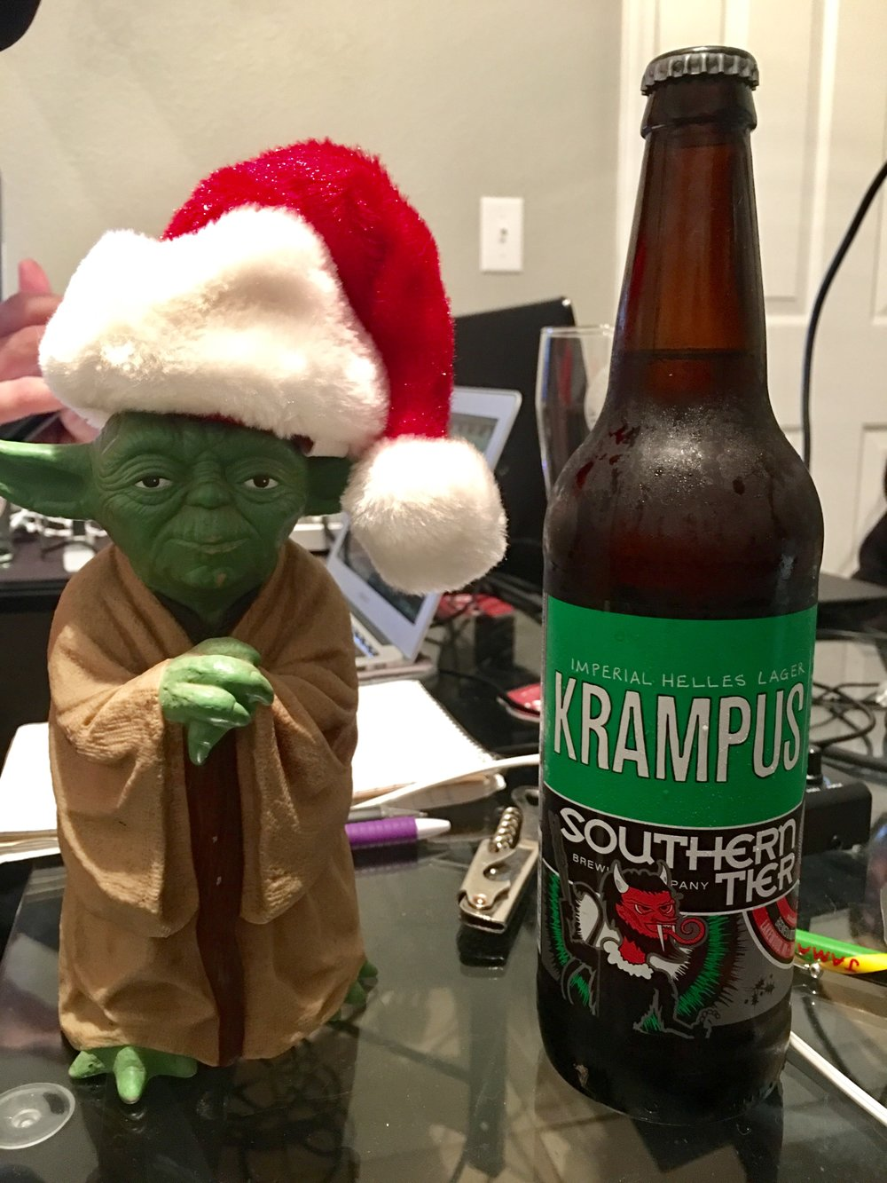 Santa Yoda is keeping us safe from Krampus.