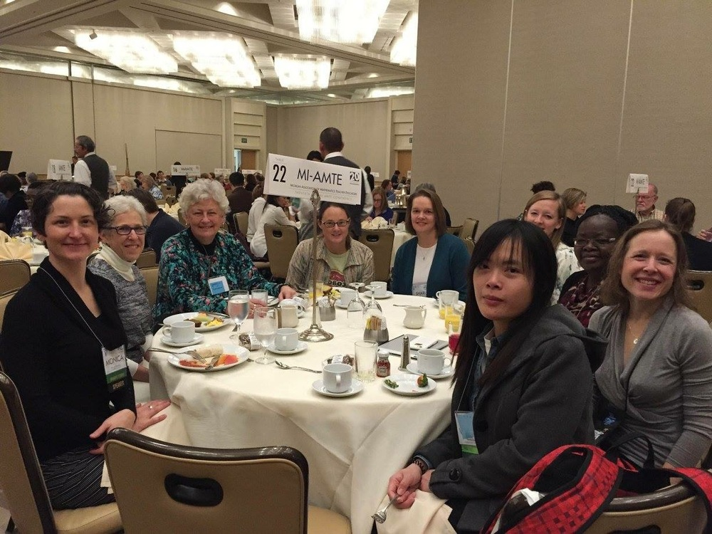 MI-AMTE Lunch at the Annual AMTE Conference, January 2016, California