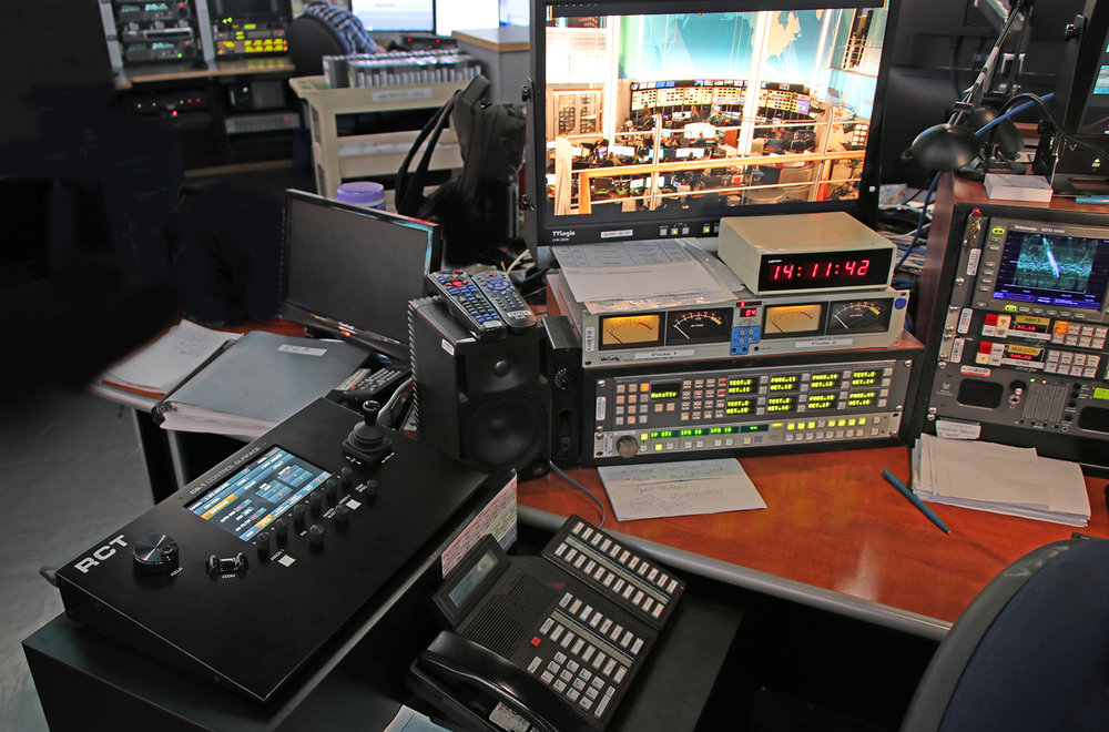 CS-1 Control Surface installed at the CBC/Radio-Canada Network Control Center in Montreal