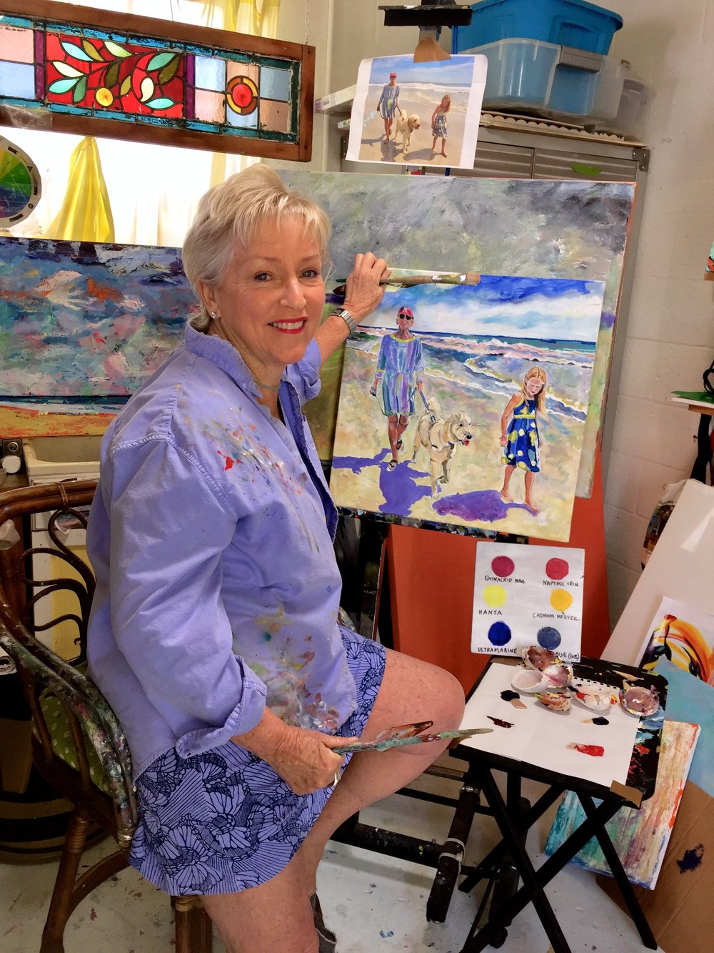 Popo's inspiration comes from nature, museum visits, students and art classes and attending classes and workshops in the US, France and Italy.  Her strongest influence comes from Matisse, Van Gogh and Gale Bennett who was from the Giverny Art Study School  MEMBER: Naples Art Assn, Plastic Club, Philadelphia,  United Arts Council, Center for the Arts of Bonita Springs, Naples Artcrafters, Brigantine Beach Cultural Arts, Goodland Arts Alliance -