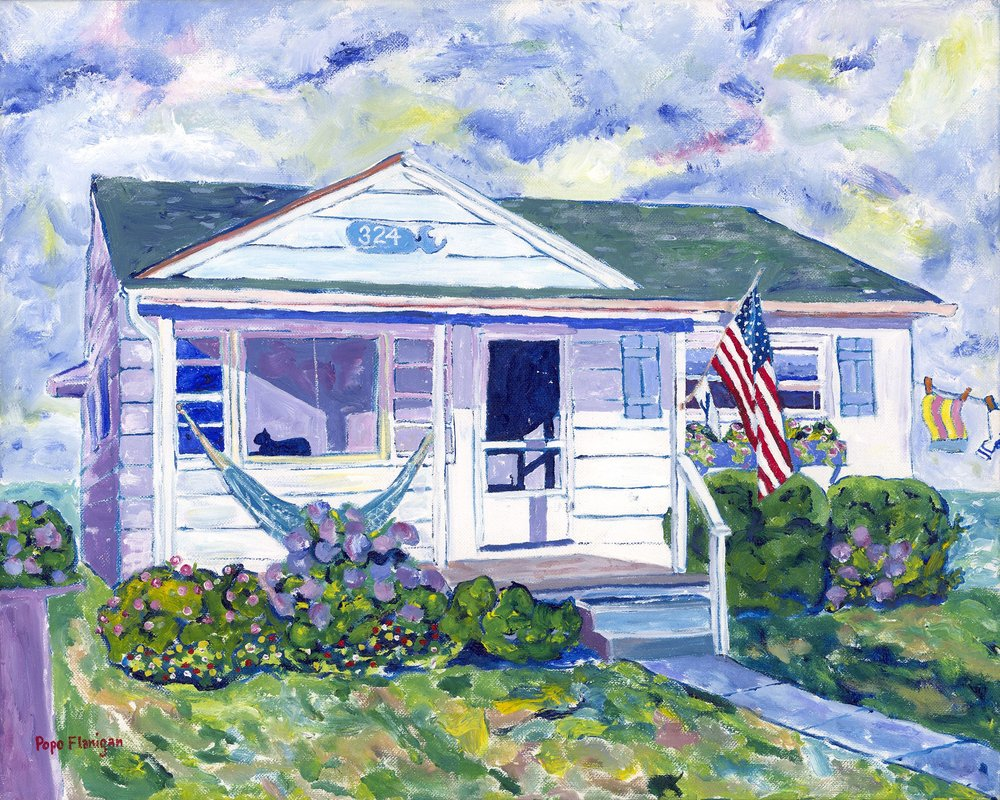 AUNT LYNN'S SHORE HOUSE    20X16 ACRYLIC SOLD #231
