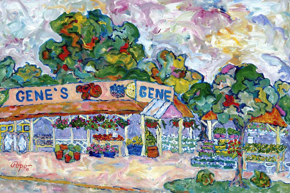 Gene's Farm  36 x 24 acrylic NFS #012