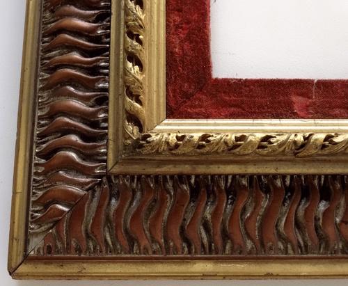 Large Antique Victorian Picture Frame Red Velvet Liner — Vidi Vici ...