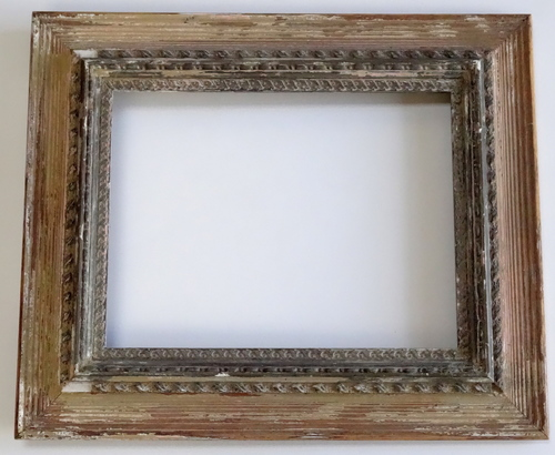 Shabby Antique Mirror Picture Frame 13 x 16 — Vidi Vici Gallery