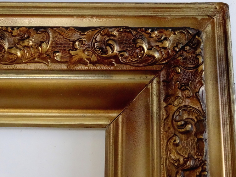 Antique Ornate Gold Picture Mirror Frame 17 x 21 — Vidi Vici Gallery