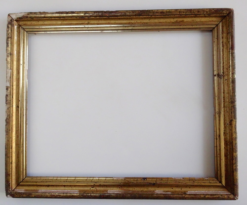 Shabby Gold Leaf Antique Picture Frame 19 x 24 — Vidi Vici Gallery