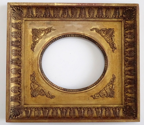Antique French Empire Oval Picture Plaque Frame 4 x 5 — Vidi Vici ...