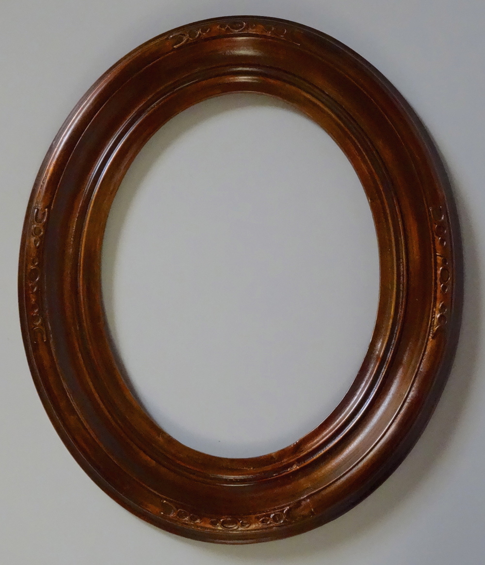 Frames vidi vici gallery vintage antique oval picture frame gesso on wood 12 x 15 jeuxipadfo Gallery