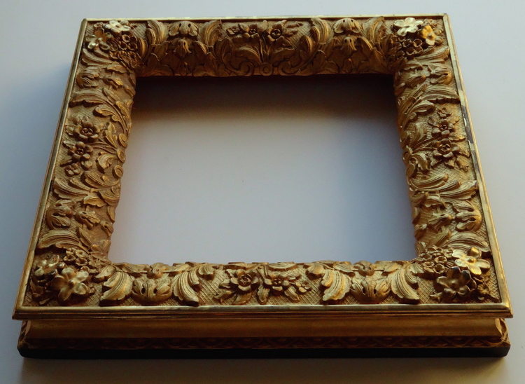 SOLD Antique Victorian Gilded Picture Frame Deep Heavy Molding Gesso ...