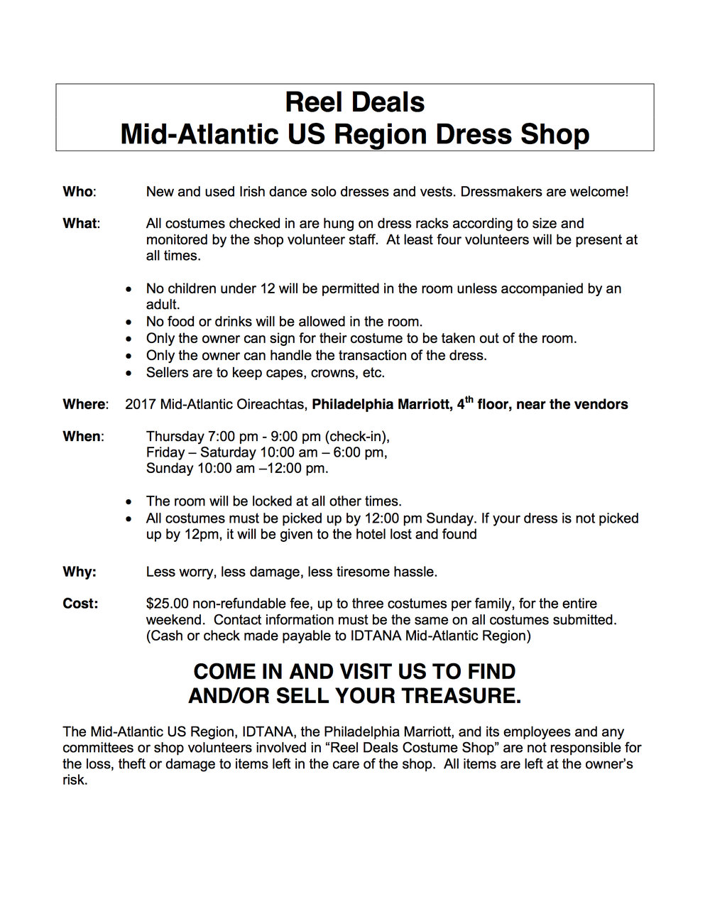 Click here for the Costume Information Form
