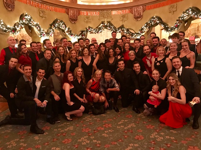 Our full company, including one baby, two toddlers, cast members spanning all eleven years and many continents, stage managers, wardrobe staff, ushers, and all. (Oh and Mark Ballas from Dancing with the Stars, our final Frankie Valli.)