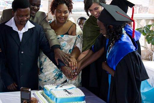 2011: Celebrating Mega's university graduation