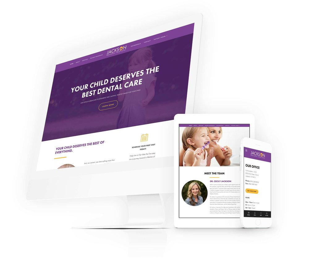 medical healthcare website design dentist