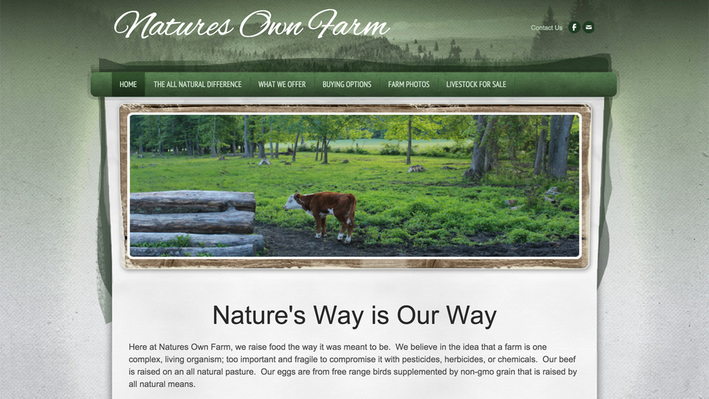 Nature's Own Farm  (Columbus, Burlington County) Pasture-raised beef and chickens, all natural free range eggs, pesticide-free vegetables. Located at 448 Lewistown Rd