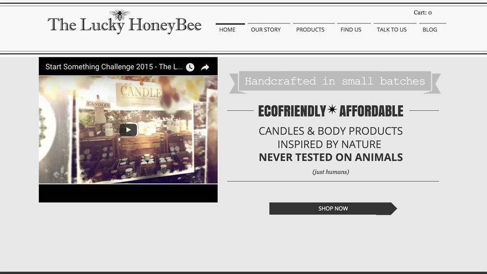 The Lucky Honeybee  (Jersey City, Hudson County)  Eco-friendly, cruelty-free handcrafted candles, bath soak, body balm, lip balm, and more. Shop online or at selected markets in Jersey City.