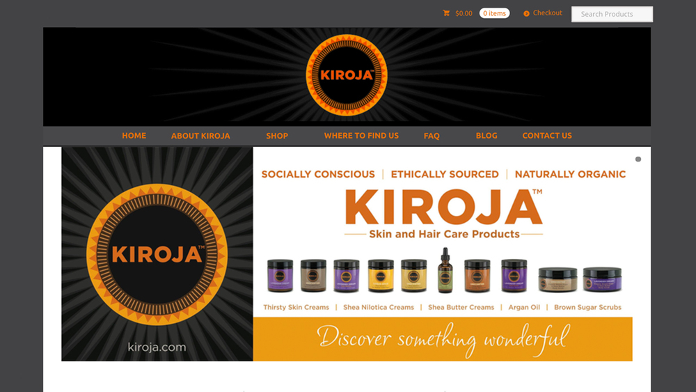 Kiroja  (Lawrenceville, Mercer County) All natural, certified organic, fair trade shea butter, shea nilotica, scrubs, argan oil, lip balm, and more. Shop online or at various retail locations.