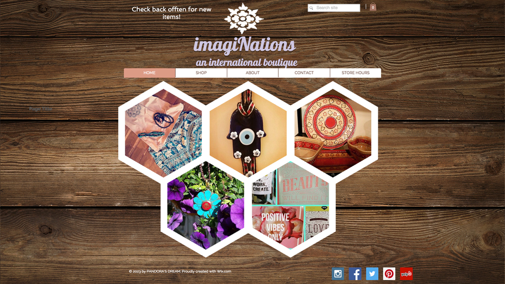 Imaginations an International Boutique  (Chester, Morris County) Fair trade, ethically-made, handmade international items, including bracelets, earrings, necklaces, clothing, artwork, and more. Shop online or at 44 Main Street.