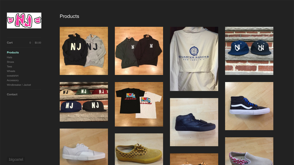 NJ Skateshop  (Hoboken, Hudson County | New Brunswick, Middlesex County) Hats, shoes, tees, wheels, sweatshirts, gloves, and more. Shop online.