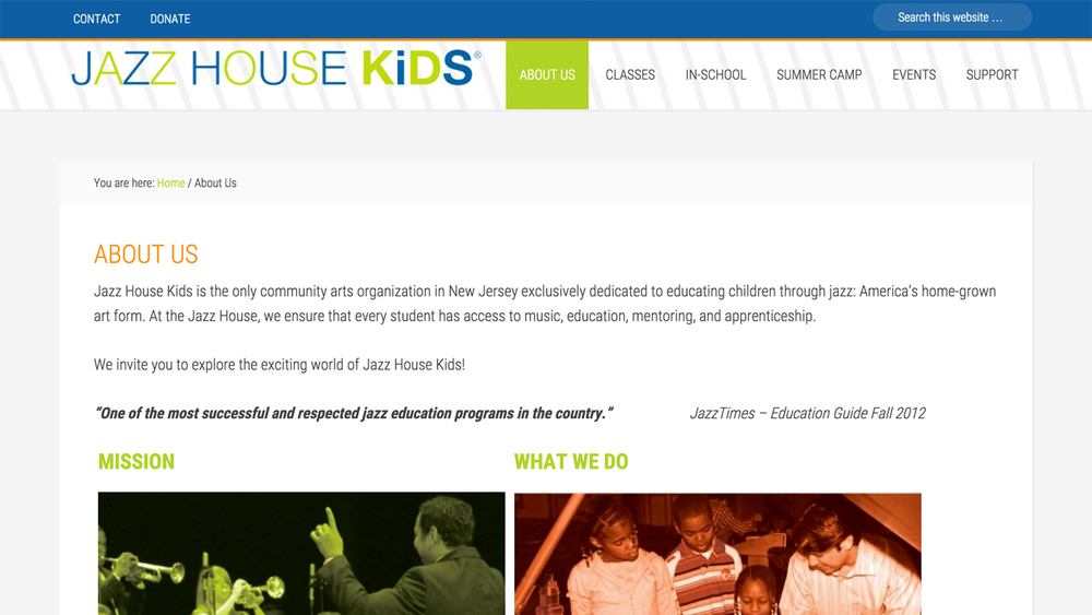 Jazz House Kids  (Montclair | Essex County)  Programs: Classes & Workshops | In-School Residencies | Summer Camp