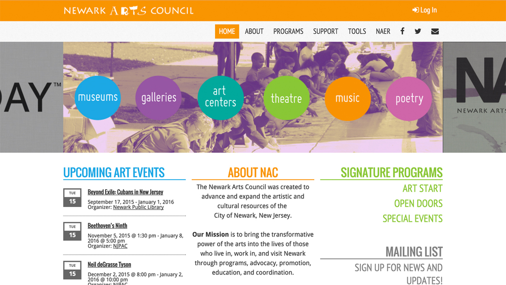 Newark Arts Council (Newark | Essex County)  Programs: Art Start | Open Doors | Special Events