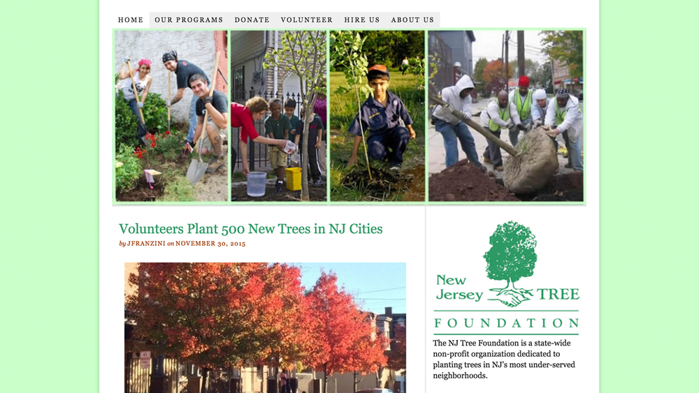 NJ Tree Foundation  (Newark | Essex County &  Camden |  Camden County) Programs: Urban Airshed Reforestation Program | Renaissance Trees Program | Green Streets Program | Grove of Remembrance | TreeKeepers