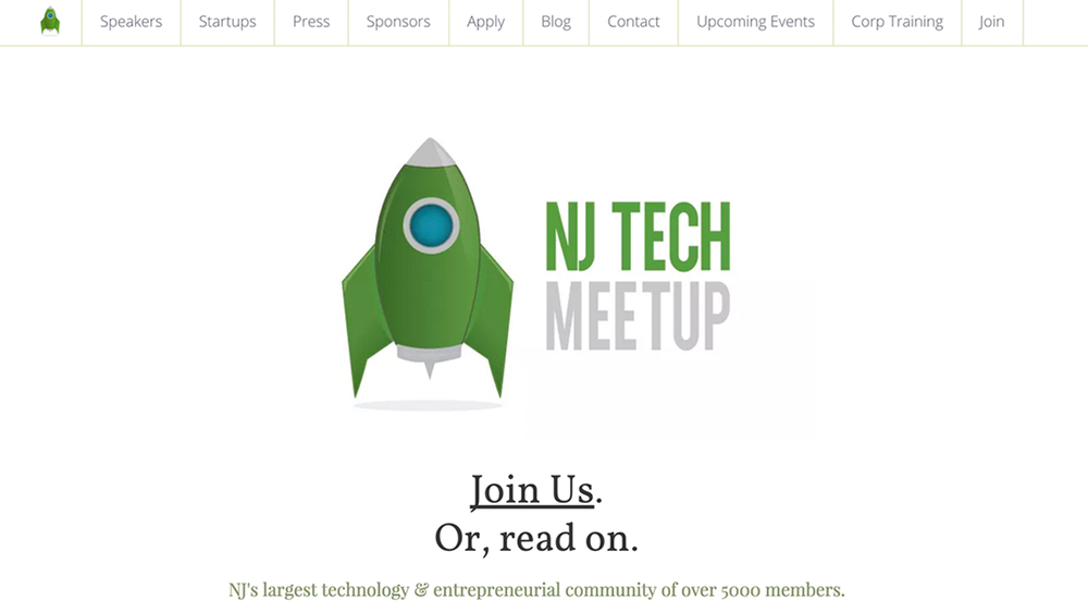 NJ Tech Meetup  (Hoboken, Hudson County) **FEATURED PAGE**